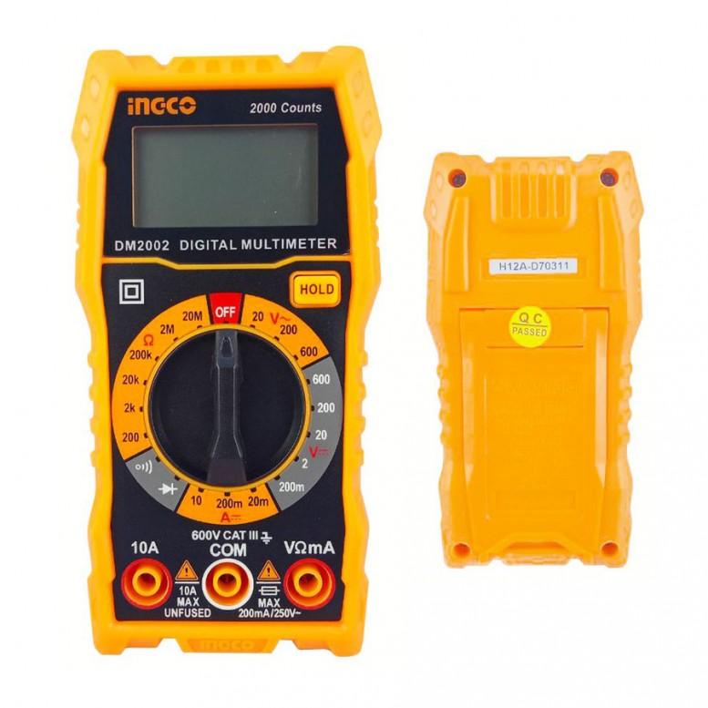 Ψηφιακό Πολύμετρο Τάσης, Έντασης και Αντίστασης DM2002 INGCO