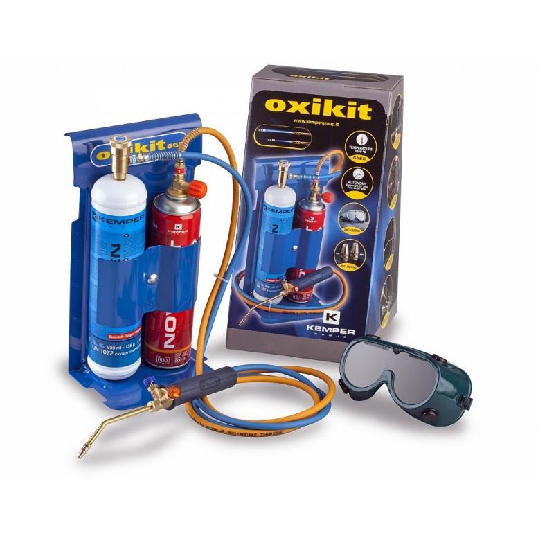 Σετ μίνι οξυγονοκόλλησης - ασετυλίνης OXIKIT Kemper Gaz 555 για 3100℃